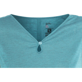 Salomon Ellipse Scoop Camisa Manga Corta Mujer, enamel blue